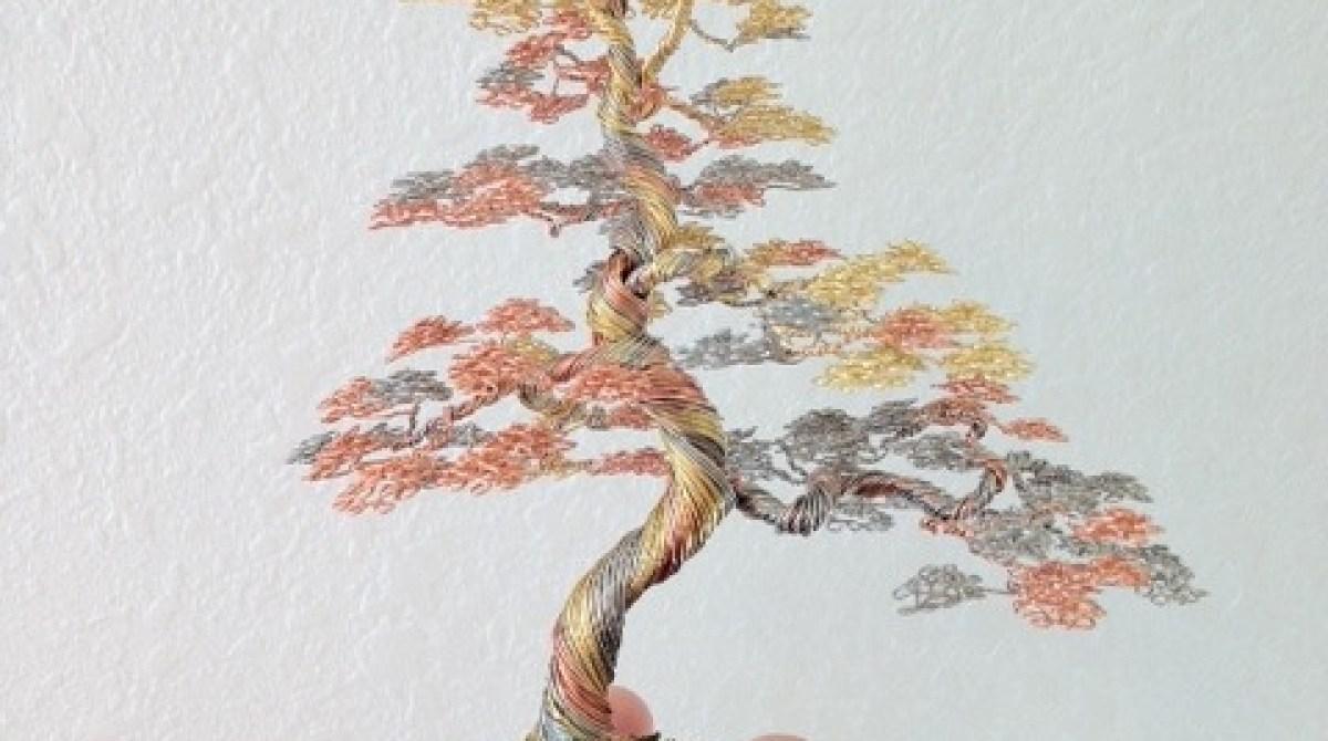 Ken To's Wire Bonsai Trees