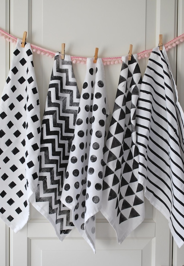 How-To: DIY Patterned Tea Towels