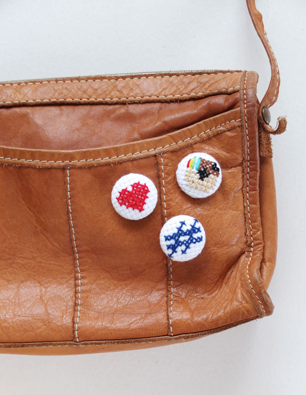 How-To: Instagram-Inspired Cross-Stitch Buttons