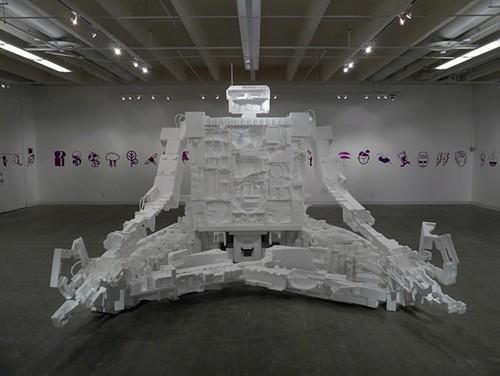 Styrobots: Robot Sculptures Made From Styrofoam