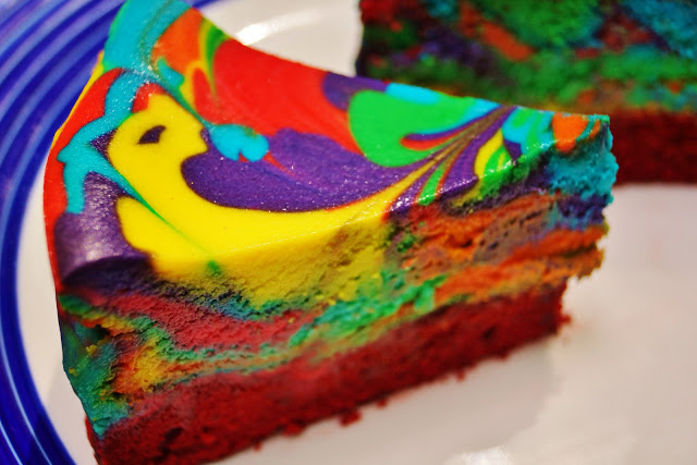 How-To: Tie-Dye Cheesecake