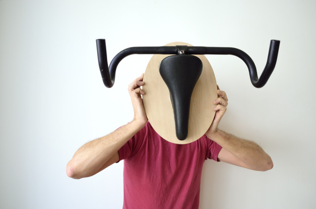 Wall Hangers That Look Like Hunting Trophies Made From Salvaged Bike Parts