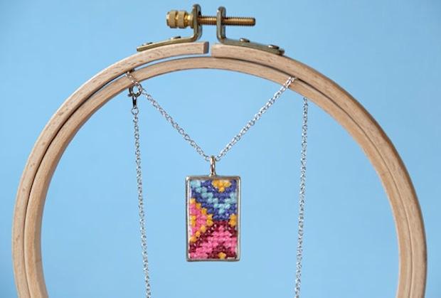Flashback: Cross-Stitch Pendant