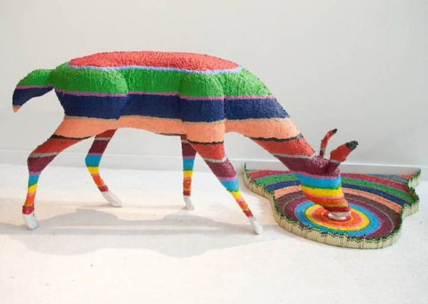 Nature Scenes Made From Crayons