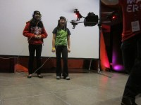 Forest Field Interactive dance troupe offered up EEG headbands with which you could team-control a quadcopter. http://bit.ly/1dIABzC