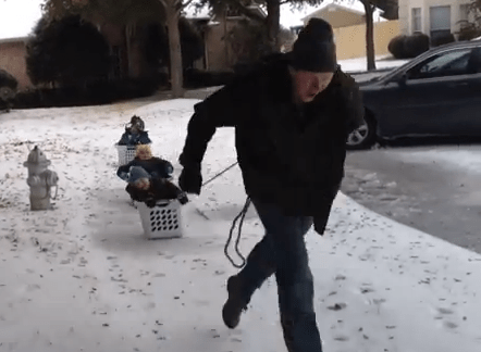 How-To: DIY Laundry Basket Sleds