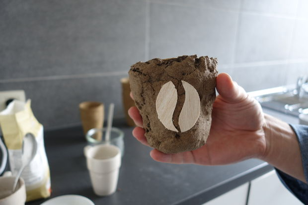 How-To: Biodegradable Flower Pots From Coffee Grounds