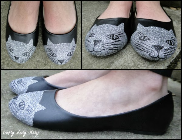 How-To: Glitter Kitty Cat Flats