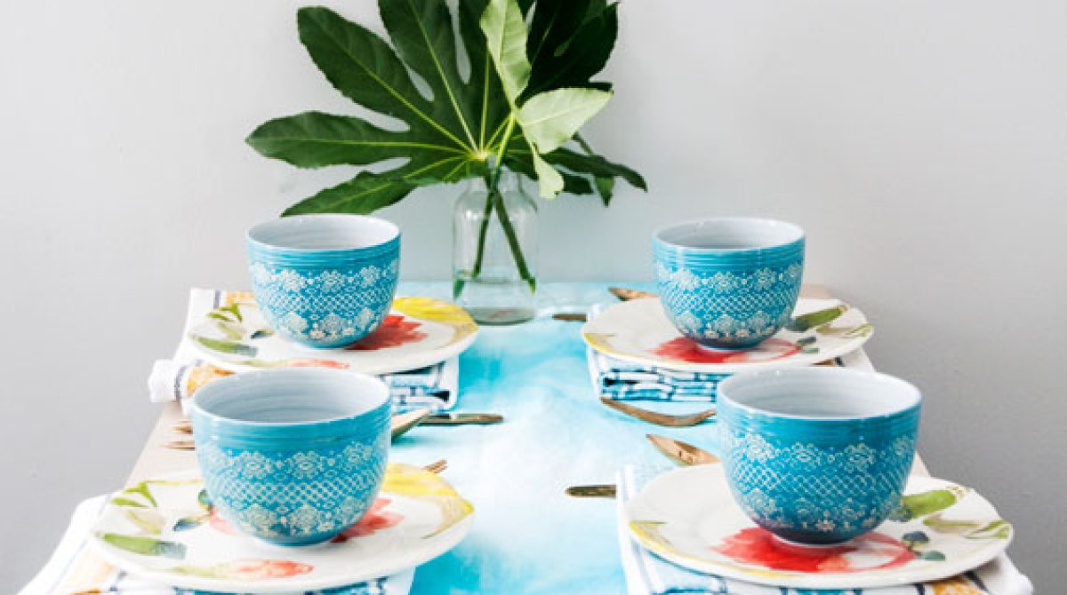 How-To: Shibori-Dyed Table Runner