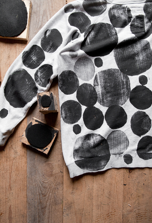 How-To: Polka Dot Block-Printed Sweater