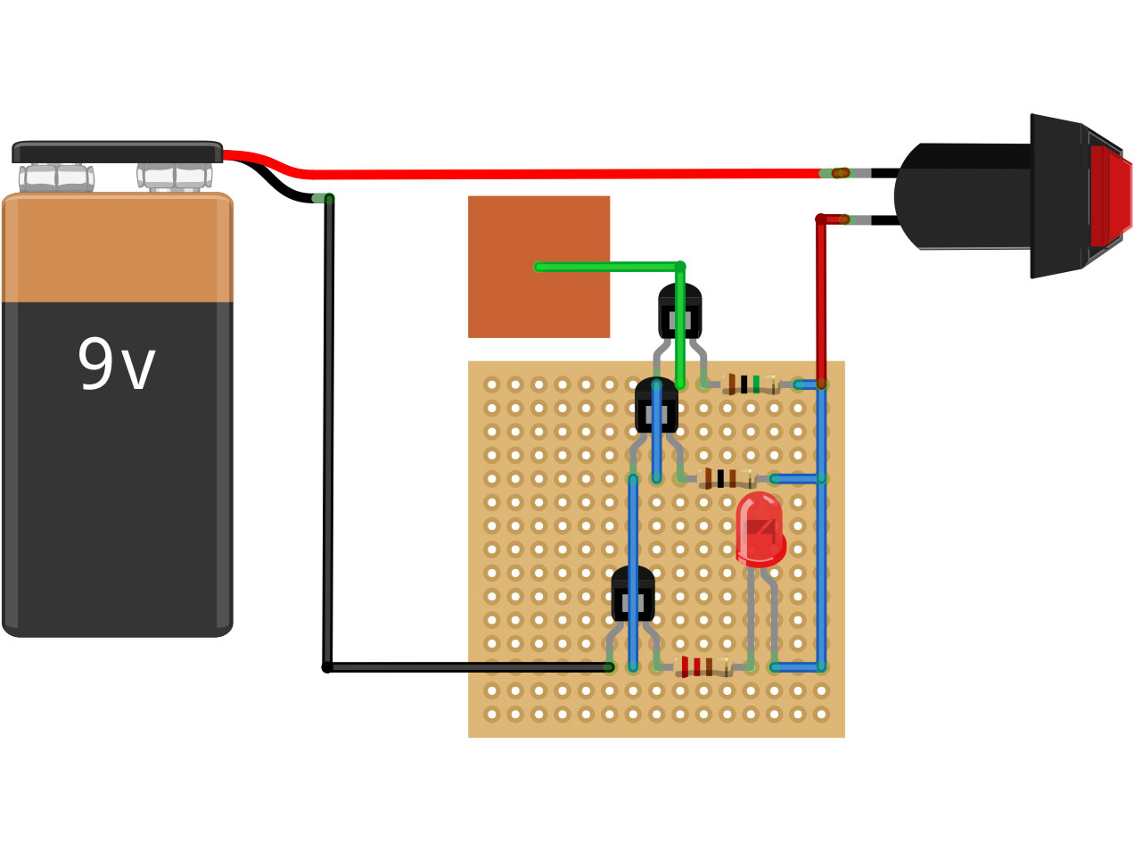 Non Contact Voltage Detector Make Low Battery Indicator Circuit Using Two Transistors Only Electronic