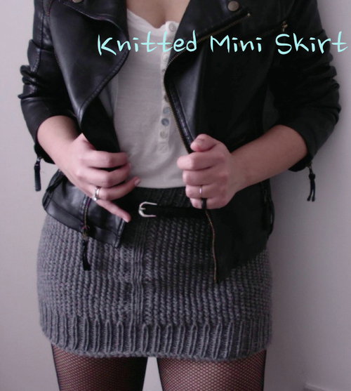 How-To: Knitted Mini Skirt