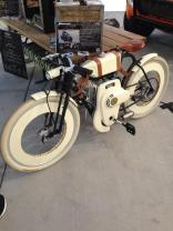 Local Motors also brought their Cruiser - a retro-styled bicycle available in either electric or gas-powered models.