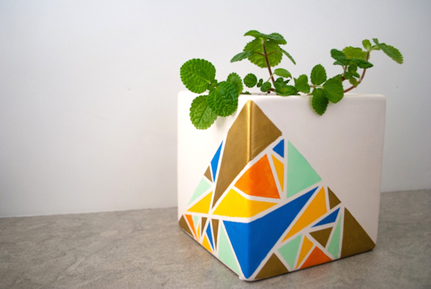 How-To: Geometric Painted Planter