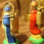 Detail shot of the Nativity in outer space by Papydom.