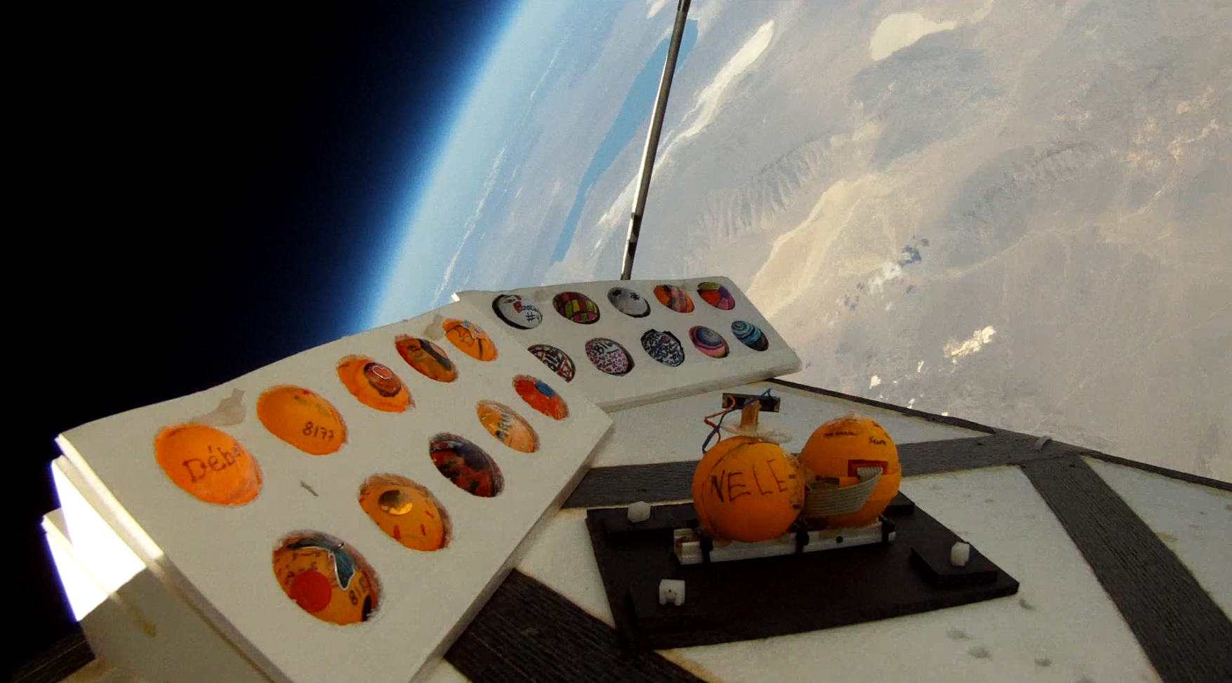 Flight of the Space-Grazing Ping Pong Balls