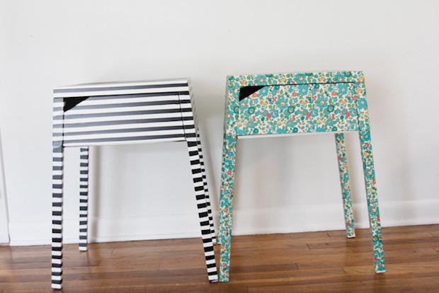 IKEA Hack: Fabric-Covered Nightstand