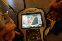 """Live video feed is accessible on the TSC Controller screen from the S8 Total Station. """"Trimble VISION™ gives you the power to see everything the instrument sees without a trip back to the tripod. Direct your survey with live video images on the controller."""""""