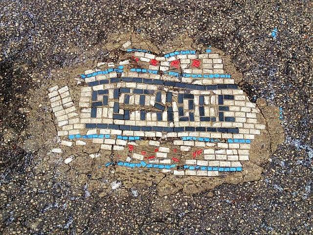 Jim Bachor's Pothole Mosaics