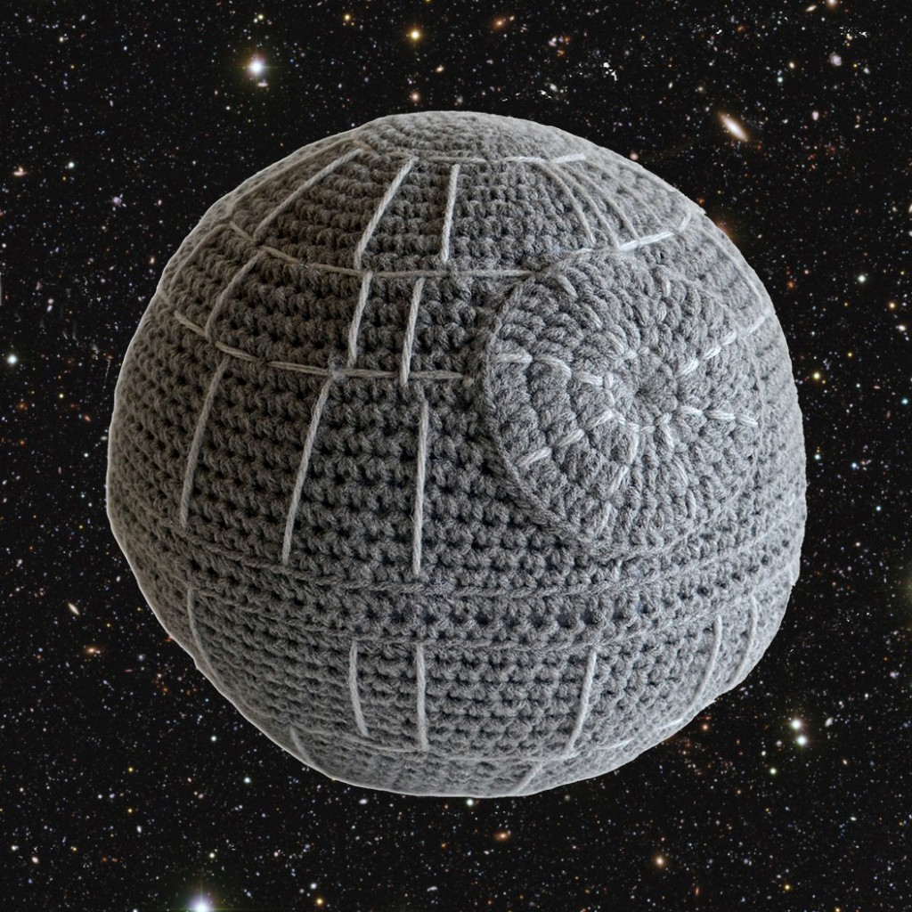 Crocheted Death Star Pillow Pattern