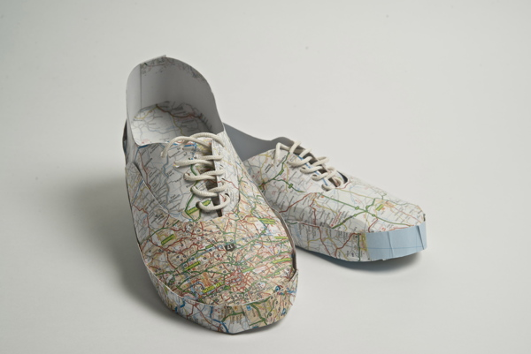 Shoes Crafted from Maps