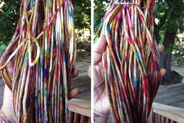 How-To: Dyeing Yarn in a Cardboard Box
