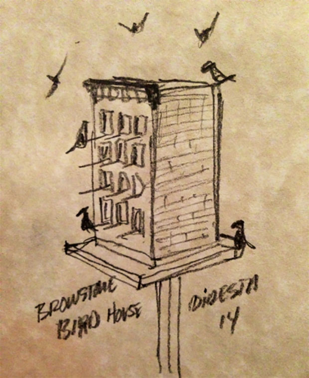 DiResta: Brownstone Birdhouse