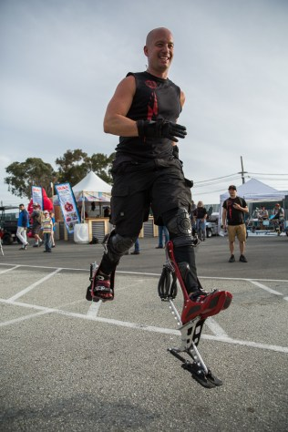 Keahi Seymour and his bionic boot, utilizing principles of locomotion of fast land animals. The device has been in development for about 15 years.