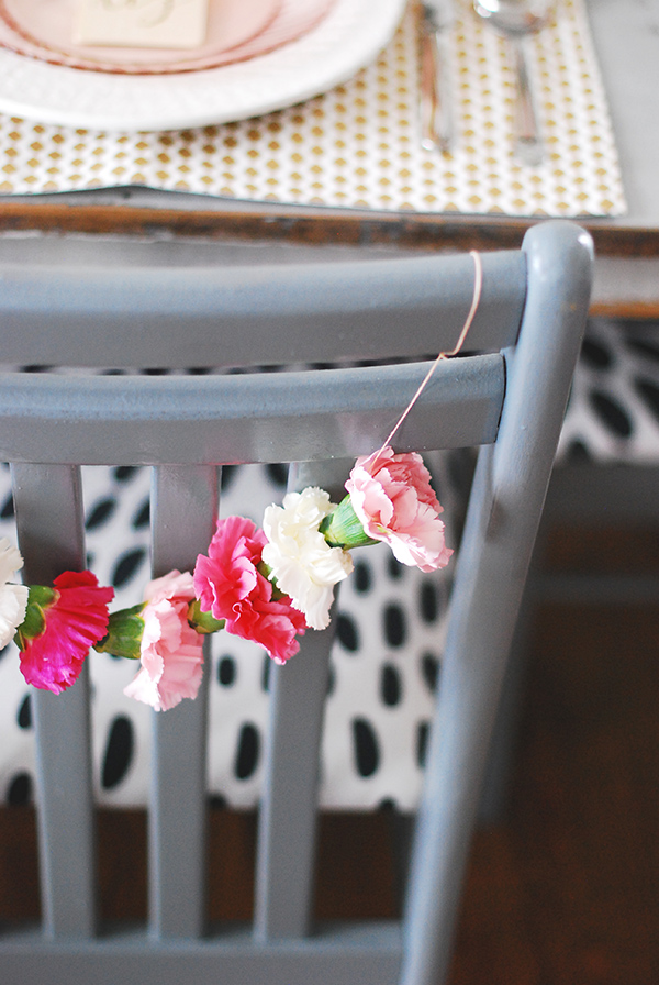 How-To: DIY Carnation Chair Garland