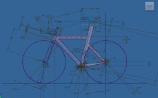 The geometry was based on a fit assessment from her coach. The position is very aggressive, and necessitated a head tube length of 85 mm including headset. I drew up a sketch of the frame in Autodesk Inventor, and then attached an assembly of modeled tubes to the sketch.