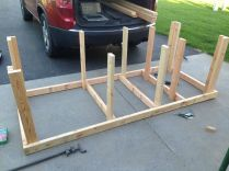 I used the plans from http://www.backyardworkshop.com/blog-posts/woodworking/115-ultimate-workbench.html You can see the Sketchup model on my computer in the back of my car.