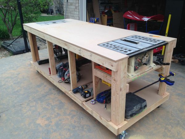 Table Saw with Workbench Plans