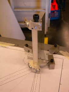 The fixture block for the dropouts. The plugs for the stays were key in fixturing the frame.