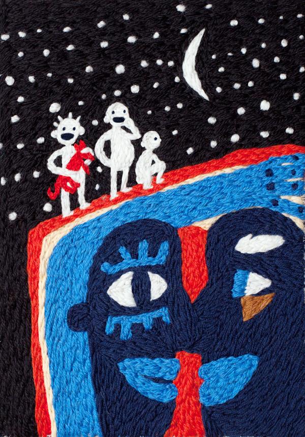 Embroidered Illustrations by Ann Khokhlova