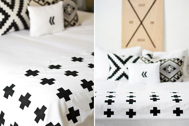 How-To: Hand-printed Geometric Throw Blanket