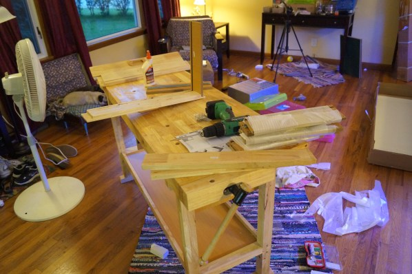 a workbench is so much easier to make if you have a workbench to use