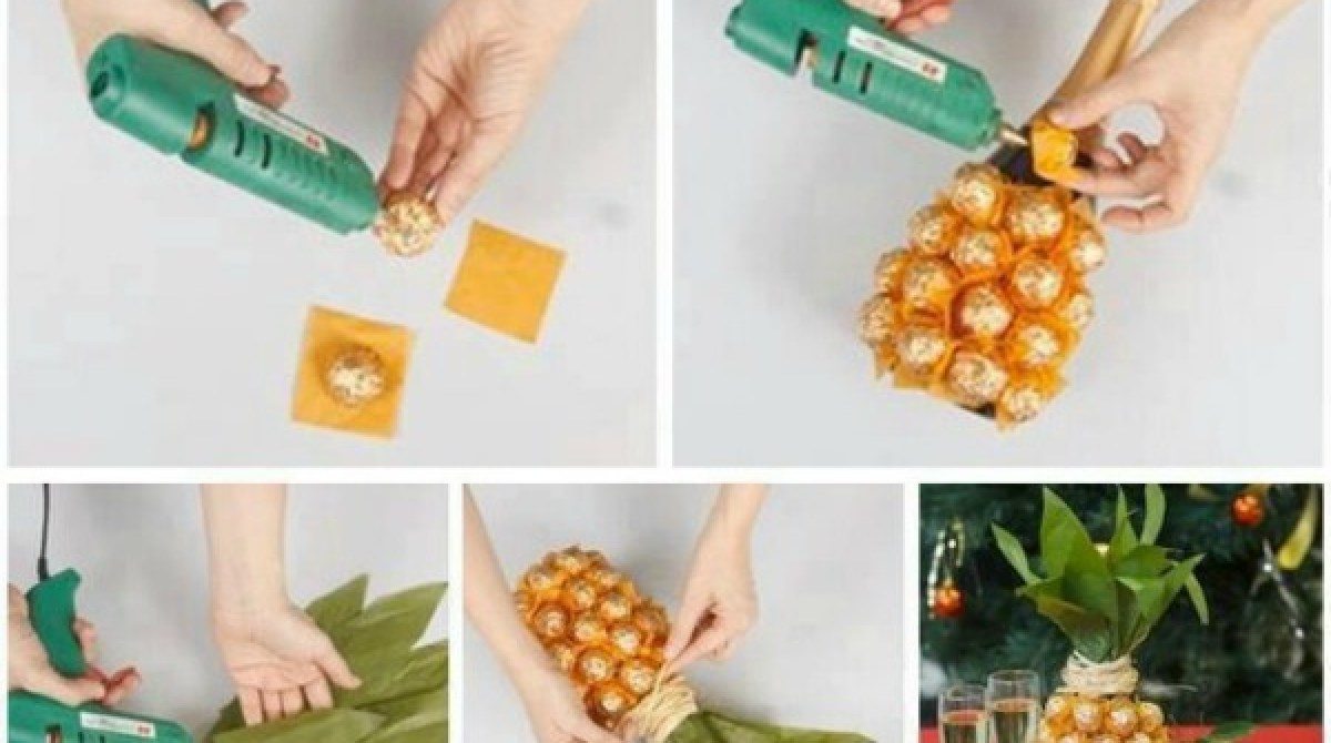How-To: Ferrero Rocher Champagne Pineapple