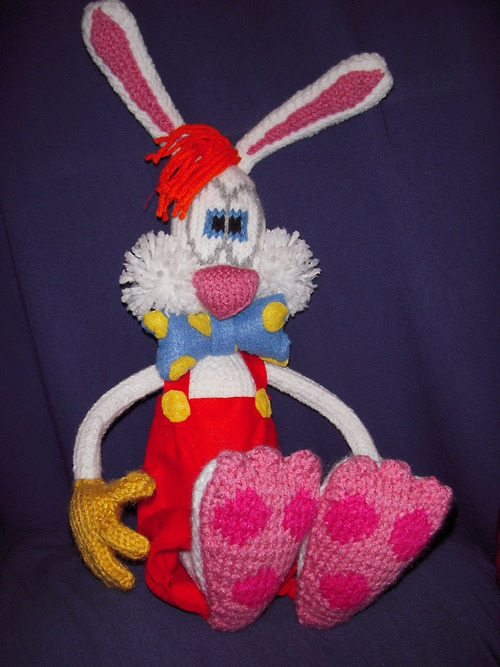 Knitted Roger Rabbit Doll