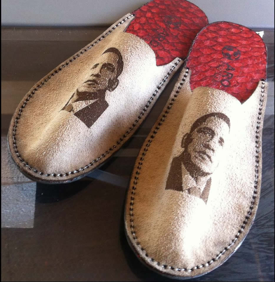 PancakeBot Delivers Obama Grandma Slippers
