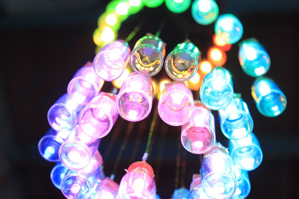 Arduino-Controlled LED Chandelier Made With Mini Jars