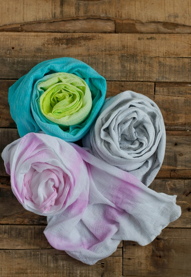 How-To: Watercolor Painted Summer Scarf