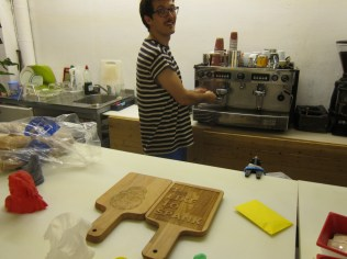 In town: laser cut espresso experience at FabCafe