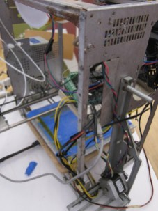 Close up shot of the e-waste 3Dprinter from Togo