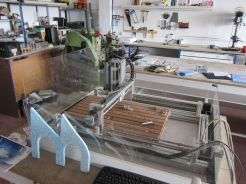 A CNC router with a bigger bed is high on the shopping list