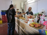 The Espacio Open cafe kept people happy all weekend with salads, rice dishes, pastries, coffee, beer and more
