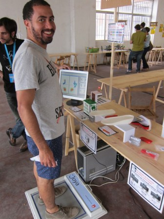 NYC's Jon Santiago of The Maker was in town — he's checking out theopenshoes.org custom shoe platform