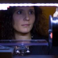 Anna Kaziunas France lights up a BEETHEFIRST printer.