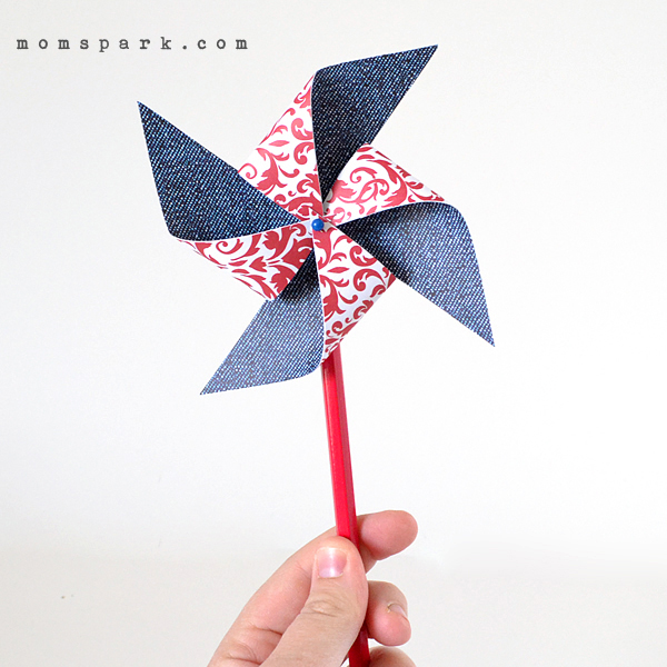 How-To: Fourth of July Paper Pinwheels