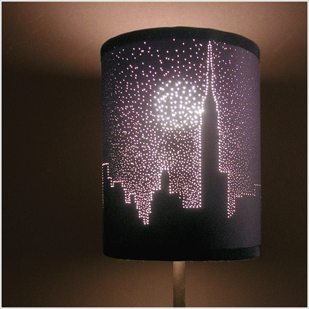 How-To: Pin Poked Lamp Shade Illustration