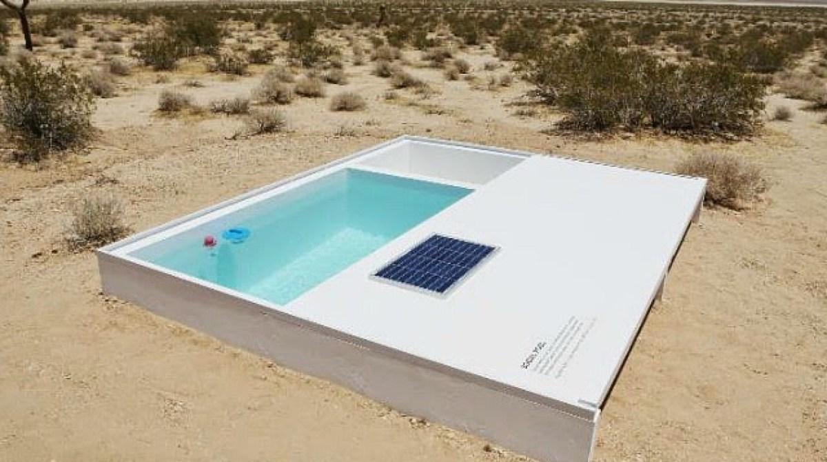 A Secret Little Swimming Pool Art Installation In The Mojave Desert